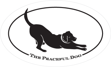 The Peaceful Dog Bumper Sticker